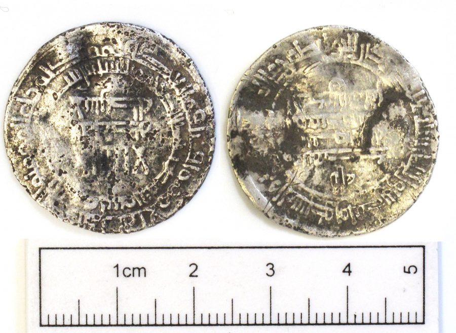 An Arabic silver dirham found in Revesby, Lincolnshire. (c) The Portable Antiquities Scheme, CC-BY-SA 4.0