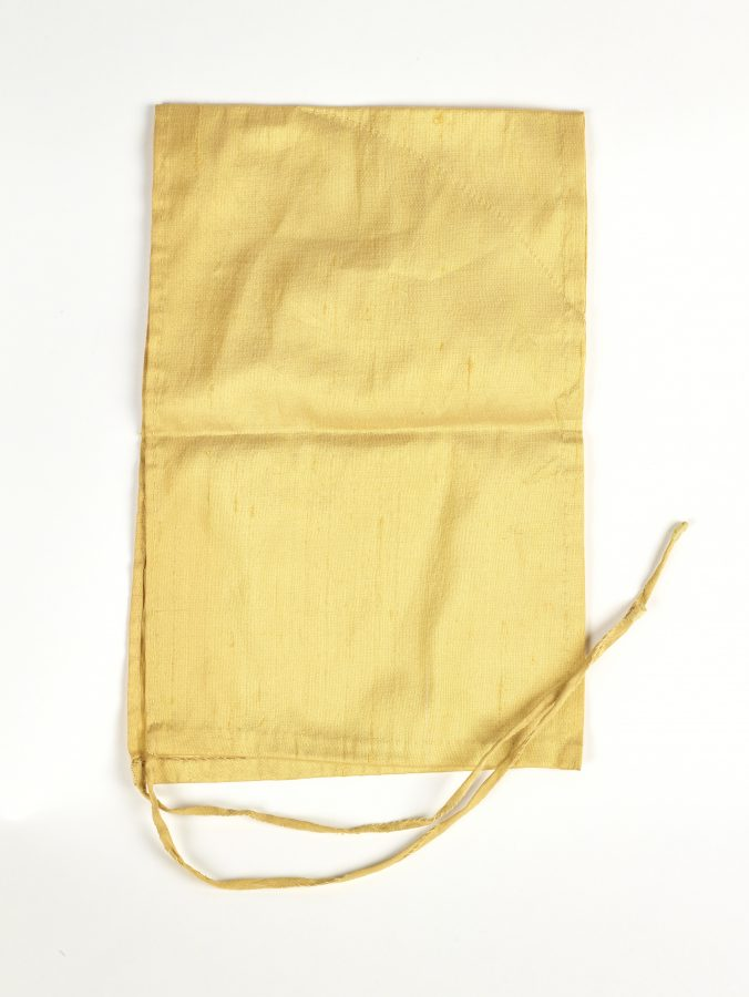 A yellow silk headdress