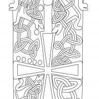 Detail drawing of part of the Hickling hogback showing the bear at one end and the cross on the top
