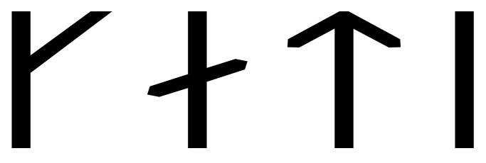 The name Káti in runes