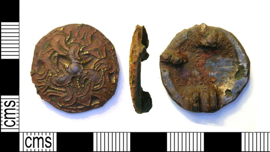 A Borre-style copper-alloy disc brooch found near Cossington, Leicestershire. (c) Leicestershire County Council, CC BY 2.0