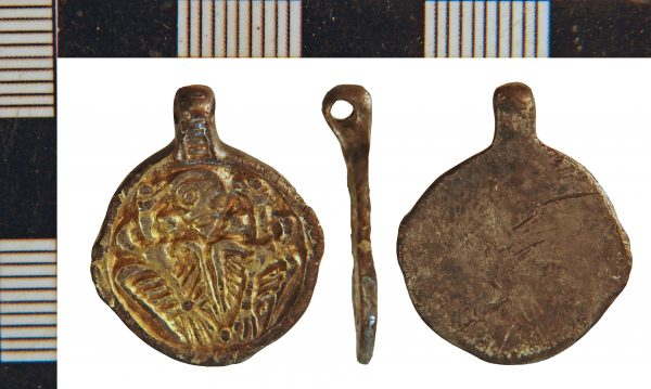 A pendant from Winteringham feature the image of Odin and his ravens