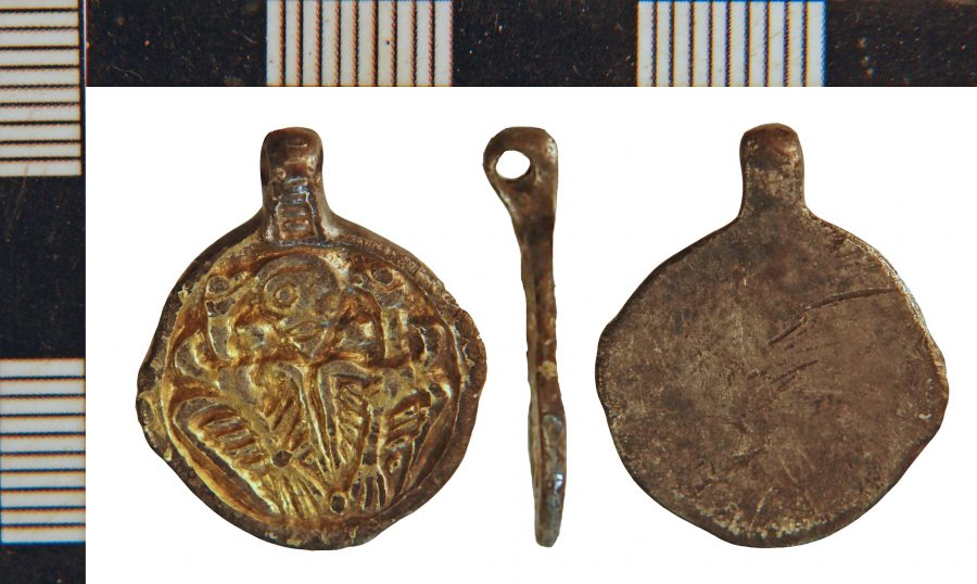 A pendant featuring Odin and his two ravens found in Winteringham, Lincolnshire. (c) North Lincolnshire
