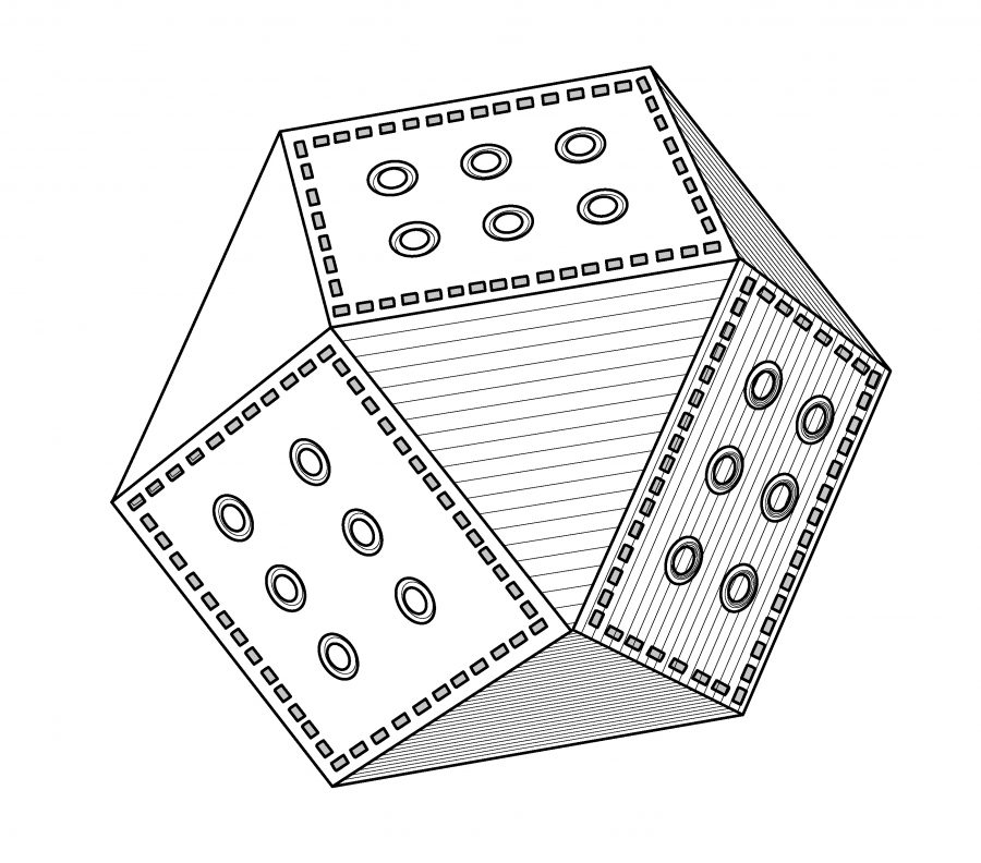 Drawing of a polyhedral weight