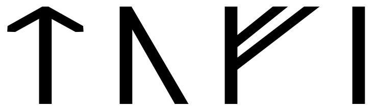 The name Tófi in runes