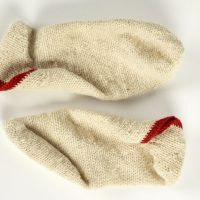 A pair of woollen socks
