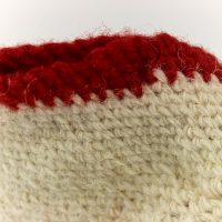 Detail of woollen sock