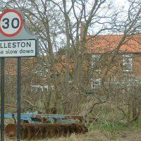 Village sign of Rolleston