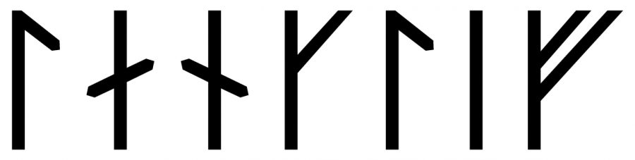 The name Langlíf in runes