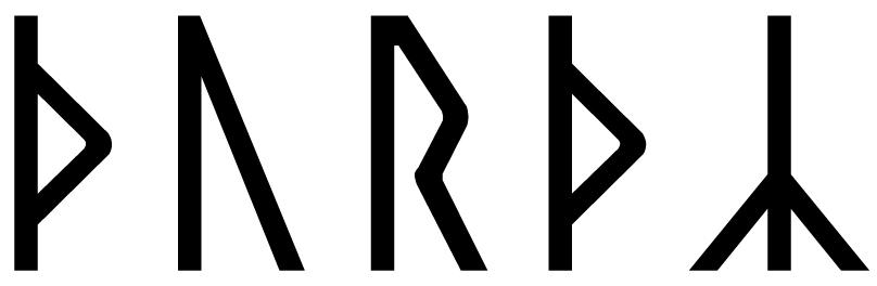 The name Þórðr in runes