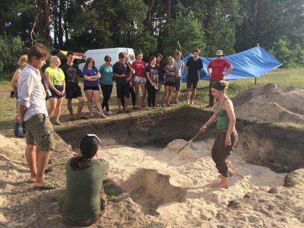 Image of excavation in the Ukraine