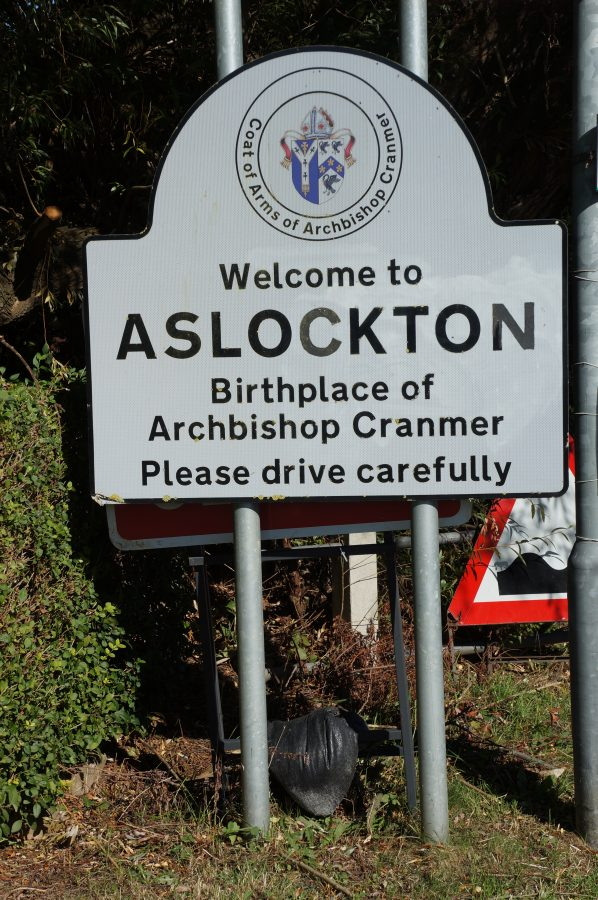 Village sign of Aslockton
