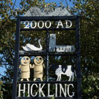 Village sign of Hickling