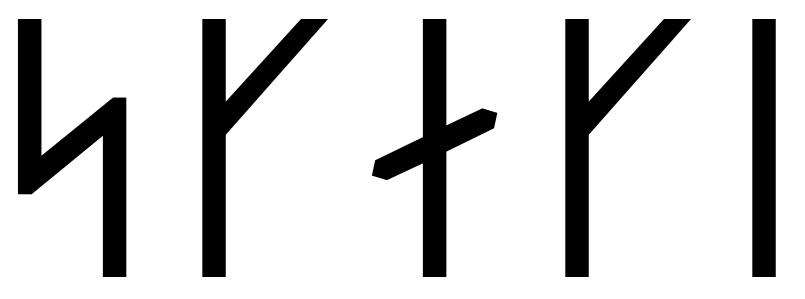 The name Skeggi in runes