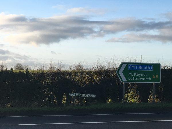 Street sign for Watling Street (c) K. Holman