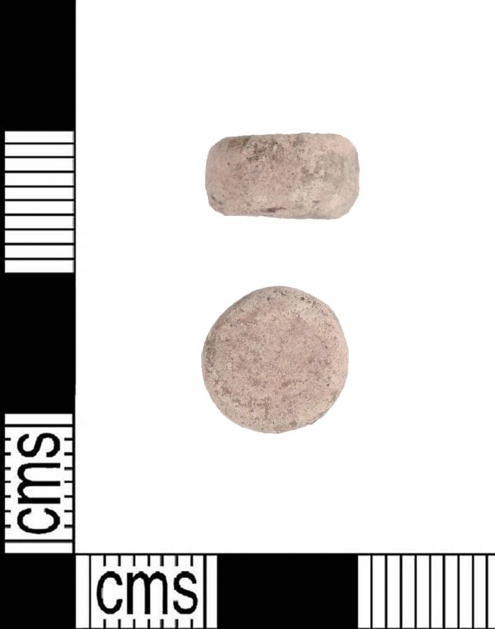 Round lead weight found in Brampton, Lincolnshire. (c) Portable Antiquities Scheme, CC BY-SA 4.0