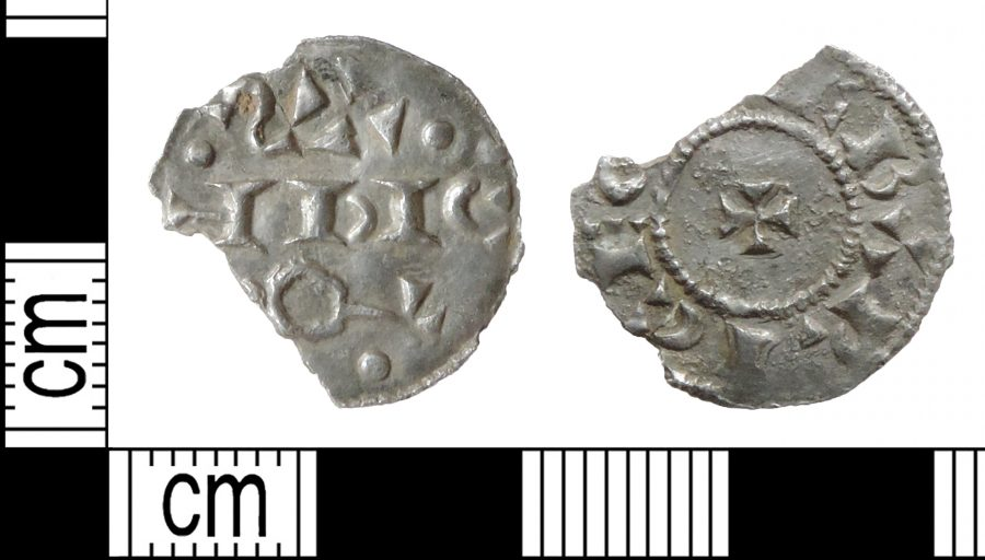An incomplete silver penny minted in York possibly in the name of the Viking Sihtric. Found in Walkeringham, Nottinghamshire. (c) Portable Antiquities Scheme, CC BY-SA 2.0
