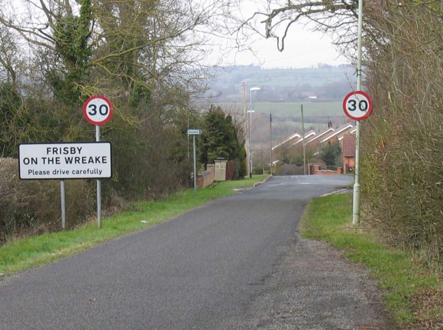 Frisby on the Wreake road sign
