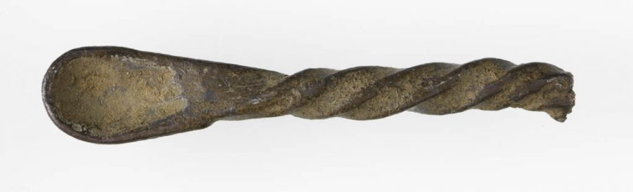 A fragment of a silver ear-spoon found in Torksey, Lincolnshire. © The Fitzwilliam Museum, Cambridge
