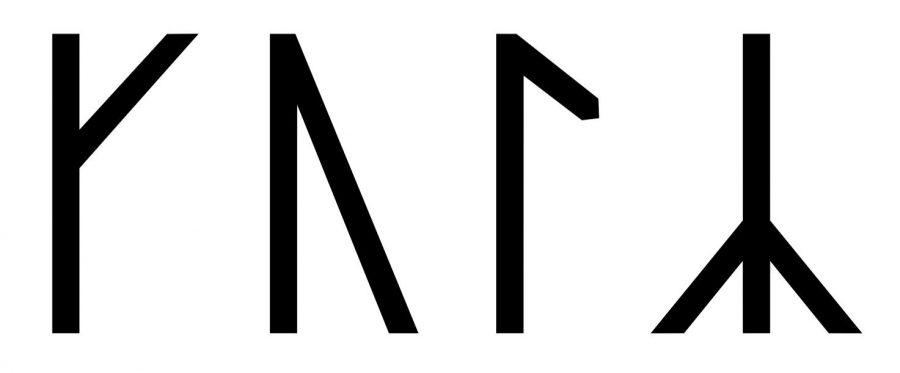 Kol written in runes
