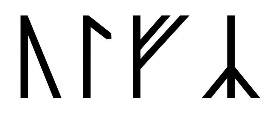 The name Ulf written in runes