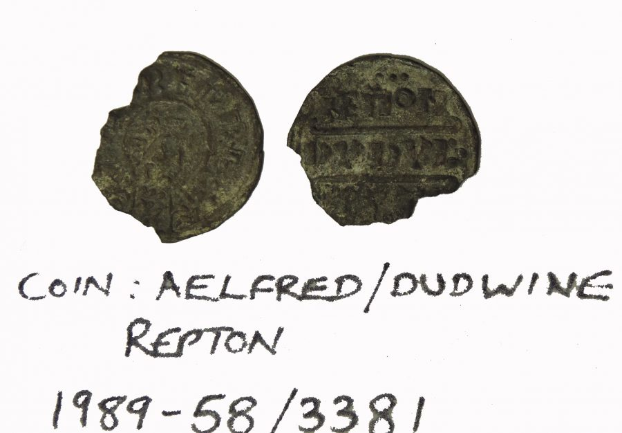 Coin of Alfred the Great minted by Dudwine and found at Repton. (c) Derby Museums 2019