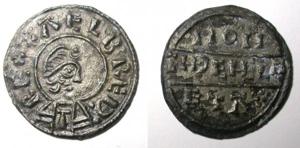 A silver penny of Alfred the Great found at Repton, Derbyshire. (c) Derby Museums 2019