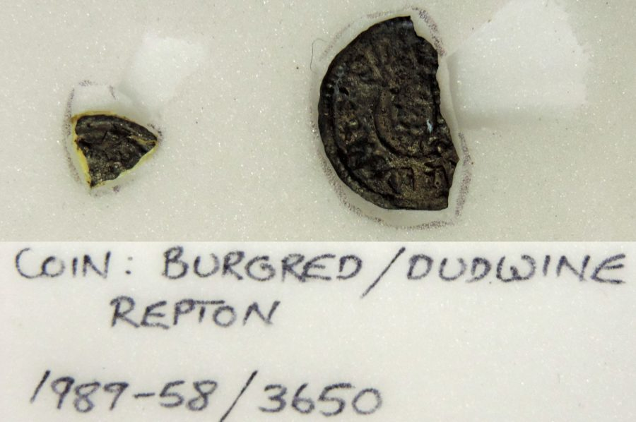 Coind of Burghred of Mercia minted by Dudwine found at Repton(c) Derby Museums 2019