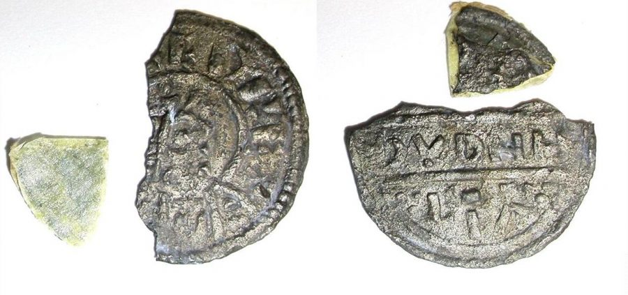 Coin of Burghred of Mercia minted by Dudwine found at Repton (c) Derby Museums 2019