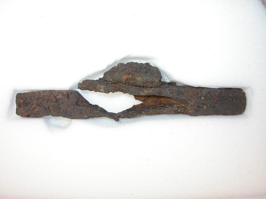 Iron lower guard from a Viking Age sword. (c) Derby Museums 2019