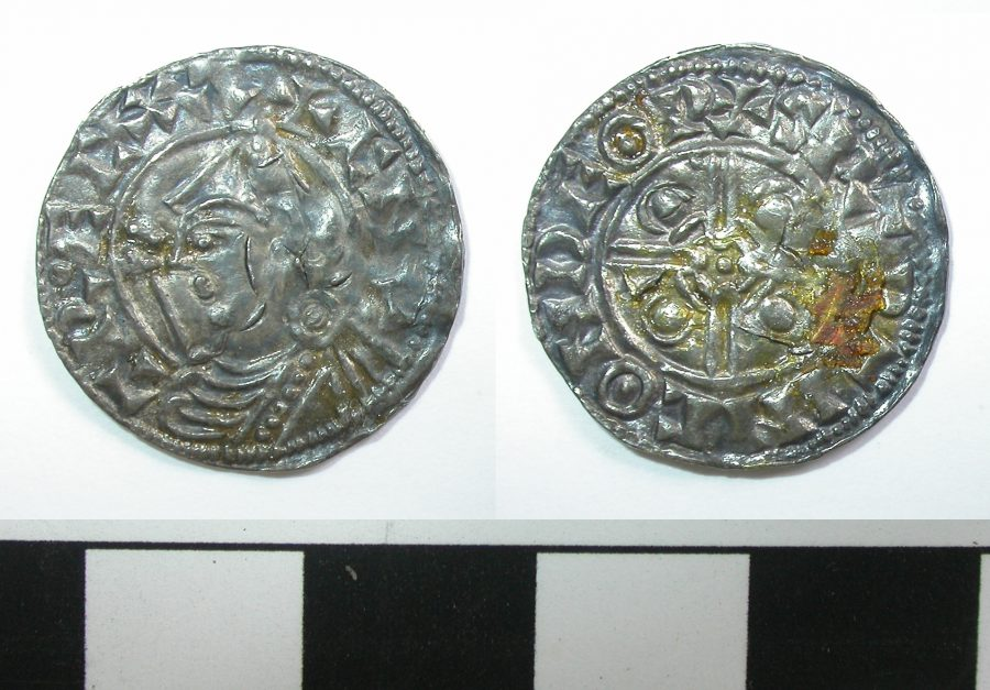 Silver penny of Cnut. (c) Derby Museums 2019