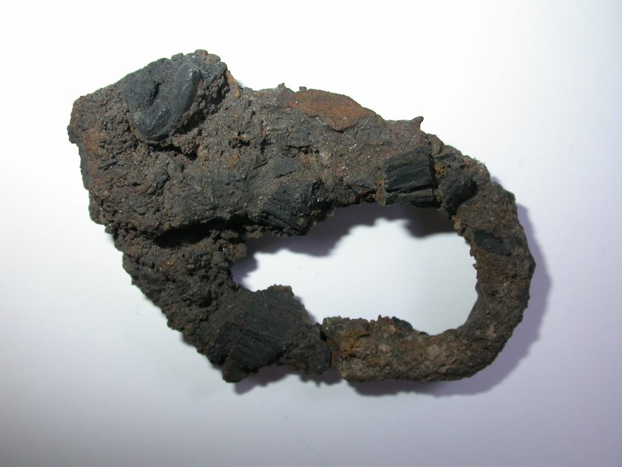 Iron buckle from Ingleby. (c) Derby Museums 2019