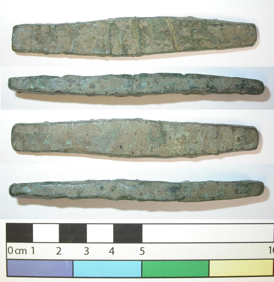 Copper ingot from Little Chester. (c) Derby Museums 2019