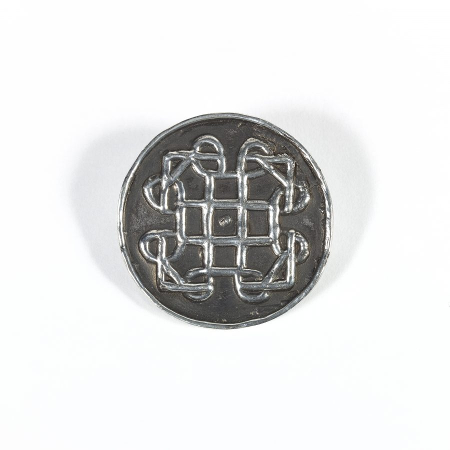 Reproduction pewter Terslev brooch based on an original from Torksey, Lincolnshire. (c) Centre for the Study of the Viking Age