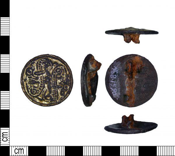 Copper alloy Jelling brooch from Melton, Leicestershire. (c) Portable Antiquities Scheme, CC BY-SA 2.0