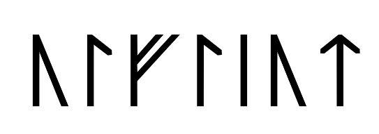 Úlfljót written in runes