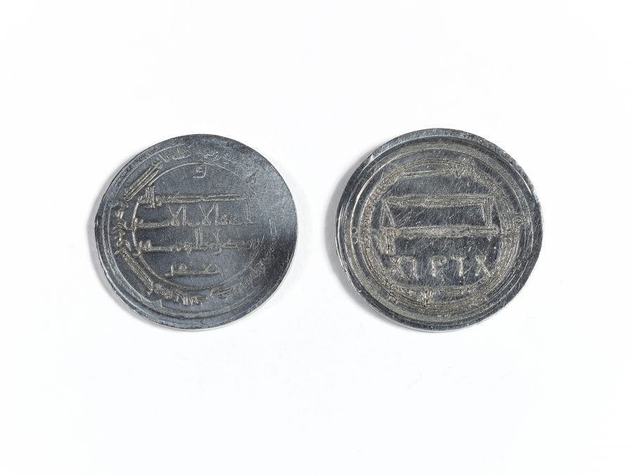 A reproduction of an Arabic silver dirham based on various originals. (c) Centre for the Study of the Viking Age