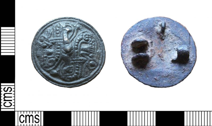 A copper alloy Jelling-style disc brooch found near Tetney, Lincolnshire. (c) Leicestershire County Council, CC BY-SA 2.0