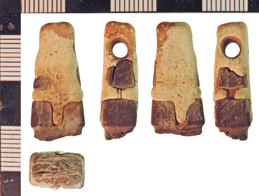 A lead and stone whetstone found near Roxby cum Risby, Lincolnshire. (c) Portable Antiquities Scheme, CC BY-SA 2.0