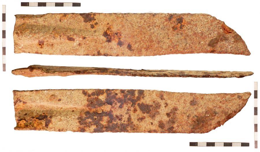 An iron scythe found in Wyham cum Cadeby, Lincolnshire. (c) Portable Antiquities Scheme, CC BY-SA 2.0