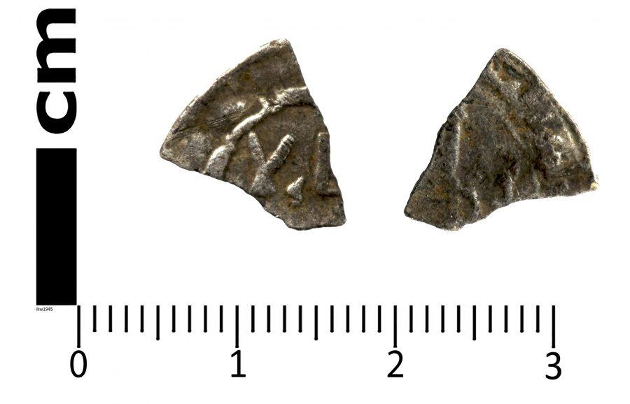 A fragment of an Arabic silver dirham found near Brampton, Lincolnshire. (c) Portable Antiquities Scheme, CC BY-SA 2.0