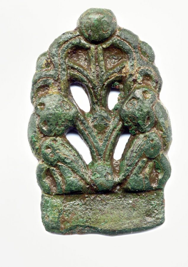 An Anglo-Scandinavian copper-alloy strap-end found near Hinckley and Bosworth, Leicestershire. (c) Portable Antiquities Scheme, CC BY-SA 4.0