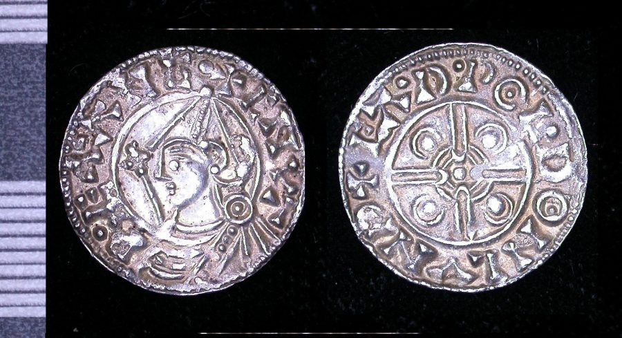 A silver penny of Cnut found near Rothley, Leicestershire. (c) Portable Antiquities Scheme, CC BY-SA 4.0
