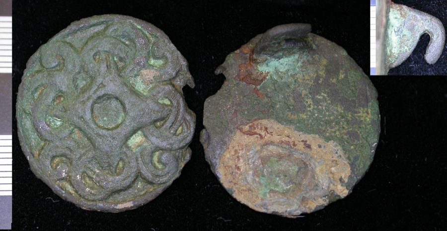 An Anglo-Scandinavian copper-alloy disc brooch found near Burton and Dalby, Leicestershire. (c) Portable Antiquities Scheme, CC BY-SA 4.0