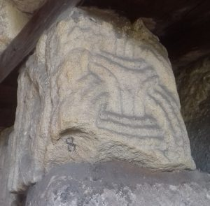 Borre ring chain design found at St Mary's Church, Bakewell, Derbyshire © Roderick Dale
