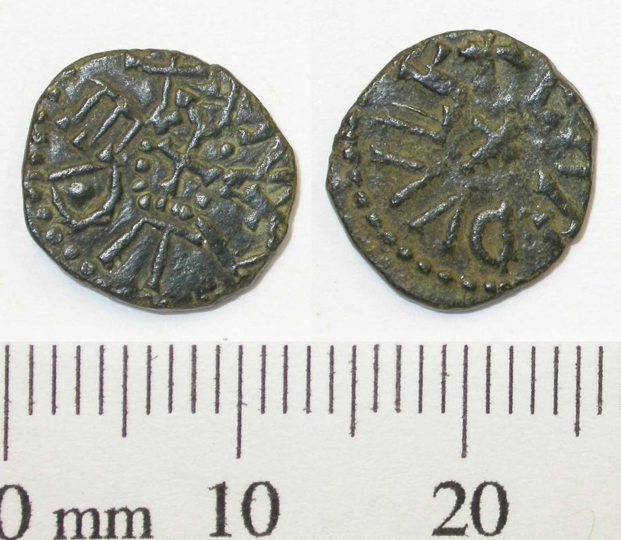 A copper-alloy Northumbrian styca found at Torksey, Lincolnshire. (c) Portable Antiquities Scheme, CC BY-SA 4.0