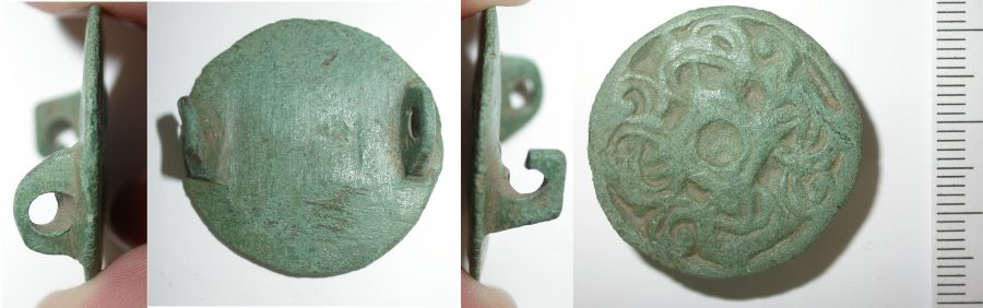 A cast copper-alloy Borre style brooch found near Worksop, Nottinghamshire. (c) Portable Antiquities Scheme, CC BY-SA 4.0