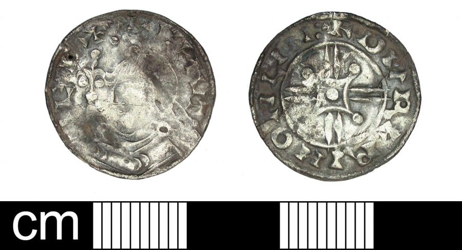 A silver penny of Cnut found near Blyth, Nottinghamshire. (c) Portable Antiquities Scheme, CC BY-SA 4.0