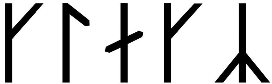 Klakk written in runes