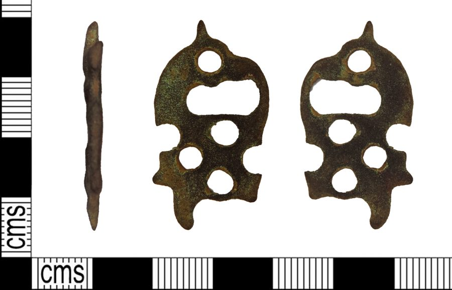 An Urnes style copper-alloy strap-end found near Ridlington, Rutland. (c) Portable Antiquities Scheme, CC BY-SA 4.0